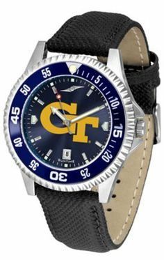Georgia Tech Yellow Jackets Competitor AnoChrome Men's Watch with Nylon/Leather Band and Colored Bezel by SunTime. $85.45. Showcase the hottest design in watches today! A functional rotating bezel is color-coordinated to compliment the NCAA Georgia Tech Yellow Jackets logo. A durable, long-lasting combination nylon/leather strap, together with a date calendar, round out this best-selling timepiece.The AnoChrome dial option increases the visual impact of any watch with a stunning ...