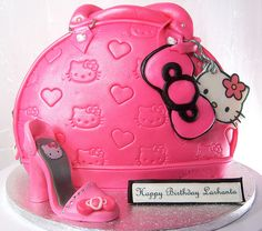 Hello Kitty Purse and Shoe Cake