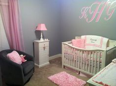 My pink and grey nursery :) to be continued...