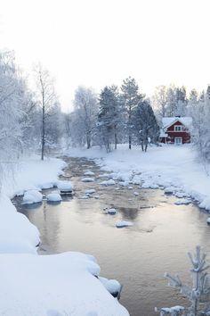 Lapland, a perfect winter scenery I Love Snow, I Love Winter, Winter Snow, Winter Time, Winter Christmas, Lappland, Winter Magic, Winter's Tale, Winter Scenery