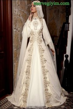[The language is Turkish. It seems to me that I've read there are different groups in Turkey, each with its own traditions and traditional clothing. I think this wedding gown is really pretty.]