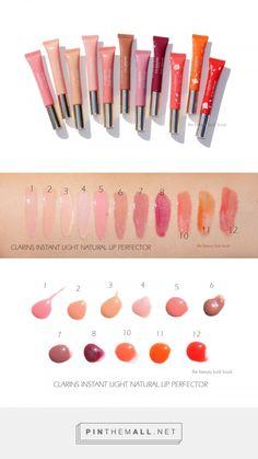 Clarins Instant Light Natural Lip Perfectors 1 Rose is a light medium neutral pi. Natural Blush, Natural Lips, Red Plum, Orange Red, Blue Green, Hot Pink Lipsticks, Cool Skin Tone, Pink Lip Gloss, Brown Lipstick