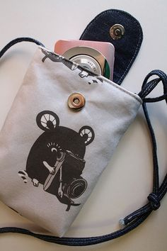new Peikonpoika fabric pattern - a mouse with a vintage camera.   Because this little mouse wants to be a photographer too!