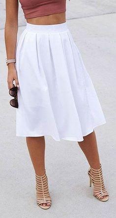 Vivid Skirt White                                                                             Source