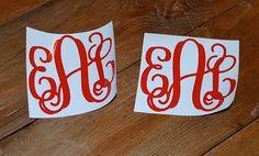 "Vinyl Monograms - matching pair - 4"""