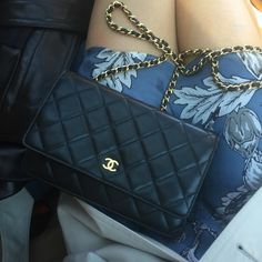 fe364569378c Chanel Classic Quilted Lambskin Wallet on Chain 100% authentic. Beautiful.  Impossibly soft leather