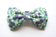 Colorful Polka Dot Bow Tie for Pets Cat Bow Tie by WhiskersCrafts