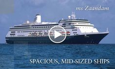 Cruises on ms Zaandam, a Holland America Line cruise ship