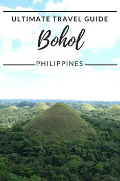 Discover the places not to miss on Bohol Island. #Philippines #travel #bohol