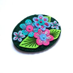 HALF PRICE SALE Victoriana felt brooch pin with by designedbyjane