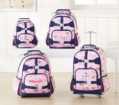 Shop Pottery Barn Kids' Mackenzie Collection for classic backpacks and lunch bags. Find backpacks and lunch bags in prints and colors that are perfect for back to school. Horse Backpack, Puppy Backpack, Toddler Backpack, Kids Luggage, Sequin Backpack, Puppy House, Rolling Backpack, Purple Unicorn, Best Puppies