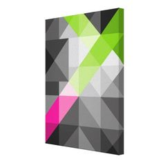Abstract geometric vibrant colors Wrapped canvas Canvas Print