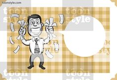 Greeting card with businessman shaking money – personalize your card with a custom text
