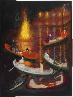 Florine Stettheimer, 'Fete on the Lake,' unknown, Avery Library