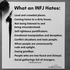 What An INFJ Hates