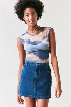 Shop Now - >  https://api.shopstyle.com/action/apiVisitRetailer?id=532928784&pid=uid6996-25233114-59 BDG Sybale Corduroy Mini Skirt  ...