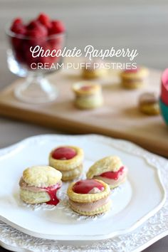 Chocolate Raspberry Cream Puff Pastries