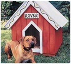 x dog house   hinged roof for easy access to food  water    Help yourself to any of   do it yourself backyard project plans and