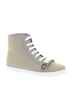 ASOS DRAMA Studded High Top Trainers