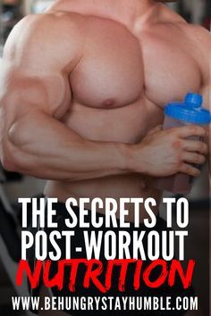 Learn how to build muscle and burn fat most effectively after your workout. Understand when you need to eat right away and when you have more time before you need to consume your next healthy meal. Muscle Body, Muscle Fitness, Mens Fitness, Muscle Building Workouts, Gym Workouts, At Home Workouts, Quick Workouts, Training Workouts, Post Workout Nutrition