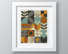 Excited to share this item from my shop: NEW - Scandinavian Retro Geometric - cross stitch/tapestry chart by Vivienne Powers Cross Stitch Geometric, Simple Cross Stitch, Modern Cross Stitch, Cross Stitch Designs, Cross Stitch Patterns, Needlepoint Patterns, Loom Patterns, Cross Stitching, Cross Stitch Embroidery
