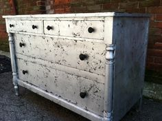 Cool DIY silver dresser - Think I am going to pick up a second hand dresser and do this to it!