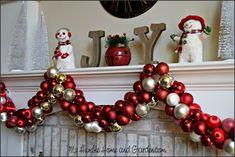 How To Easily Make Beautiful Christmas Ornament Garland on MyHumbleHomeandGarden.com