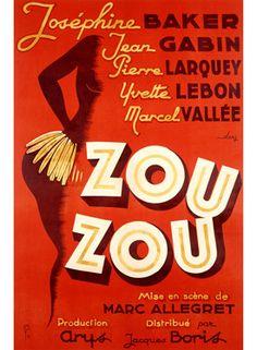 Josephine Baker Zou Zou Movie Poster