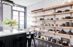 I've seen photos of Alison Cayne's West Village townhouse in magazines and onlinebut for some reason the recent photos on One King's Lane blew me away. Alison is the founder of the downtown cooking school Haven's Kitchen so it's not surprising that her home kitchen is impressive. I was already toying with the ideas ofremodeling […]