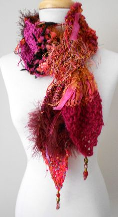 Hot Colors Bernadetta Scarf by scarfitup, via Flickr...oooo love the texture and colors!