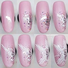 - nailart how to - Nageldesign Styles Cute Christmas Nails, Christmas Nail Art Designs, Holiday Nail Art, Xmas Nails, Winter Nail Designs, Simple Nail Designs, Valentine Nails, Holiday Makeup, Halloween Nails
