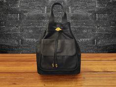 MILANO Backpack Black by ArtificeHandmade on Etsy