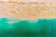 Between Land and Sea by Mohsin Abrar ( sea desert Dubai Turquoise landscape seascape waterscape )