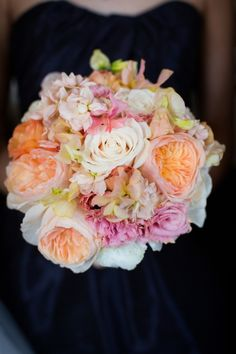 The combination of garden roses, stock, lisianthus, sweet peas and dusty miller create a sherbert-colored symphony in this design by Nancy Liu Chin Floral & Event  - See more at: http://www.hgtvgardens.com/weddings/45-lush-bridal-bouquets?affiliate=blocker&omnisource=SEM&c1=Premium_Outbrain&c2=Outbrain&c3=June_Campaign&c4=46-Lush-Bridal-Bouquets-46-photos#sthash.55hz9m0K.dpuf