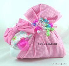 Stork bundle baby  Girl diaper cake  Stork by MsCarlasBabyCakes