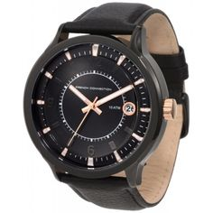 french connection men s fc1032u stainless steel square case watch french connection mens stainless steel watch leather strap