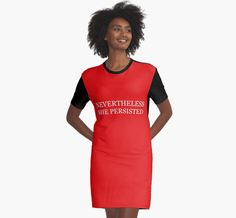 """""""Nevertheless, she persisted"""" - Trump font"""