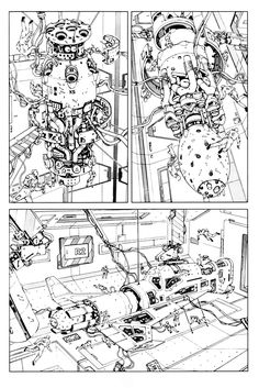 Cool Comic Book Pages: Katsuhiro Otomo, Takumi Nagayasu - The Legend of Mother Sarah