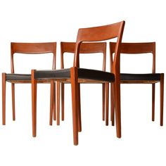Set of Four Svegards Markaryd Made Dining Chairs 1