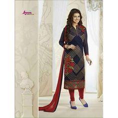 405448e62a51 Buy Rawat Fashion Blue Georgette Dress Material by Mr.Vinodbhai Hiralal  Patel