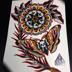 traditional moth tattoo - Google Search