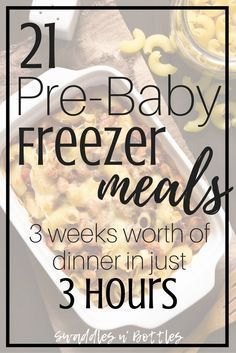 Pre-Baby Meal Prep- 21 Freezer Meals to Make. Make ahead meals to freeze for when baby arrives. Crock pot dump meals and freezer casseroles. meals make ahead crock pot Pre-Baby Meal Prep- 21 Freezer Meals to Make Make Ahead Freezer Meals, Crock Pot Freezer, Freezer Cooking, Freezer Recipes, Meals To Freeze, Freezer Dinner, Meals Good For Freezing, Cooking Tips, Meal Prep Freezer