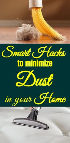 How to minimize the amount of dusts in your house. Dust contains dust mites and foreign elements that can make anyone sick. Use these hacks to reduce the dust in your home and make it a healthier place. Cleaning Dust, Household Cleaning Tips, Cleaning Hacks, Deep Cleaning, Cleaning Supplies, Home Organization Hacks, Organizing, Housekeeping Tips, Homekeeping