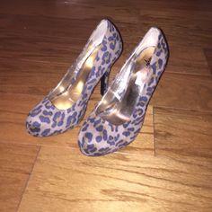 Cheetah high heels 3 in cheetah high heels cute just don't fit :/ never worn Shoes Heels