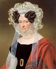 Bildnis der Wilhelmine Luise Gräfin von Einsiedel, geb. Freiin von Edelsheim by Joseph Karl Stieler
