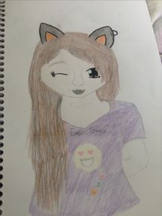 A girl with fox ears Drawn by Rielle( me )