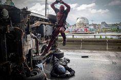 Deadpool Highway Fight Scene Deadpool & X Men: Apocalypse Images Spotlight New Villains and Heroes