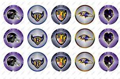 "Baltimore Ravens, 1"" Inch Bottlecap, Football, NFL, (Instant Download, Logo, Bottle Cap, Paper Goods, Scrapbooking, Scrapbook)"