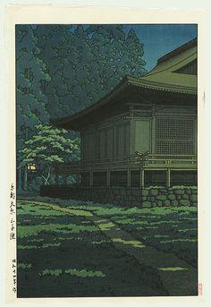 Kawase Hasui, Moonlight at Sanzenin Shrine, Kyoto, 1949