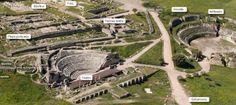 Vista aérea de la Ciudad Romana. Imagen sacada de la Web del Campo Arqueológico